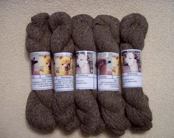 Alpaca Yarn – Smokey, Hadassa, and D'Amour (2 ply worsted weight)