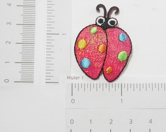 Red Ladybird Iron On Appliques x 2 pieces