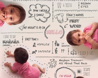 Custom-made baby infographic