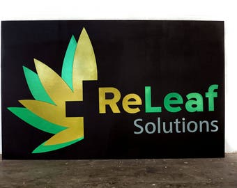 Indoor Laser Cut Business Signage Made of Wood or Acrylic