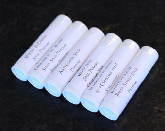 Set of SIX solid perfumes, you choose the scents!