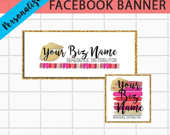 LipSense FACEBOOK Banner personalized with biz info - Wear Your Stripes