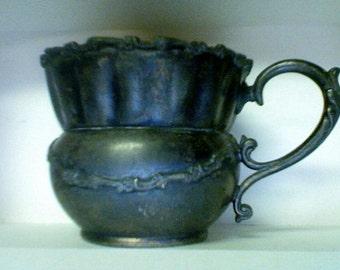 Antique Moustache Cup Wilcox Silver Plate hallmark