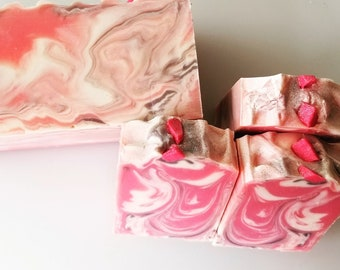Rose Quartz Soap -- Mothers Day -- Birthday -- GIFT