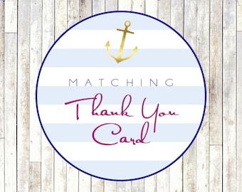Matching Thank You Card - Printable DIY