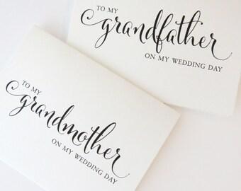 To my Grandfather on my Wedding Day card, To my Grandmother on my Wedding Day, To my GrandParents on my Wedding Day, SINGLE CARD WCP02