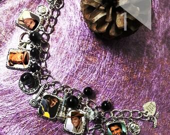 Elvis Presley Charm Bracelet, Earrings & Necklace