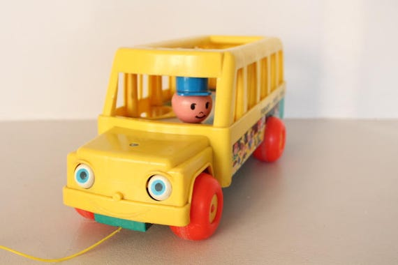 Yellow bus fisher price school bus fisher price vintage