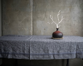 Gray linen tablecloth fabric table cover organic natural cover linen table top rectangular square tablecloth rustic wedding gift Christmas