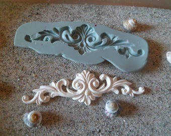 mold silicone resin arabesque for fimo wepam plaster pediment