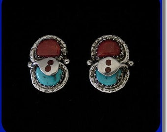 Effie C. Turquoise and Coral Earrings