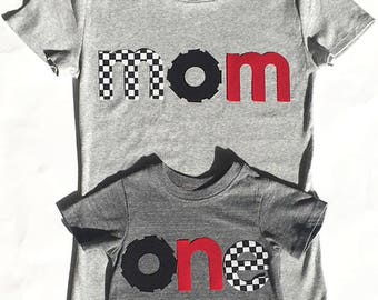 Race Car Birthday, Racing Theme Birthday, one,two, four, mom,bro, First Birthday, Fabric Iron On Appliques