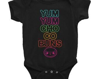 Yum Yum Chocobuns Rainbow Flavor Onesie Black