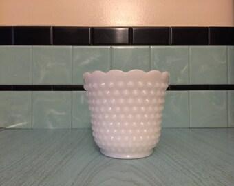 Large Fire King Hobnail Milk Glass Luminary