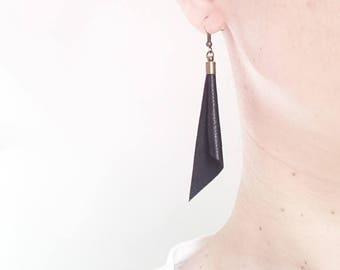 Leather Dangle Earrings Dangle earrings Leather earrings