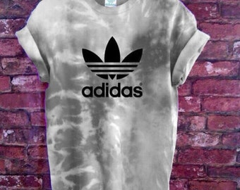 Adidas tie dye tshirt | 100% Authentic | Hand customized | Mens Womens & Kids | Grey