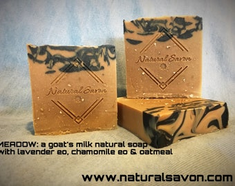 Meadow: Goat's Milk Lavender, Chamomile Oatmeal Natural Handmade Soap