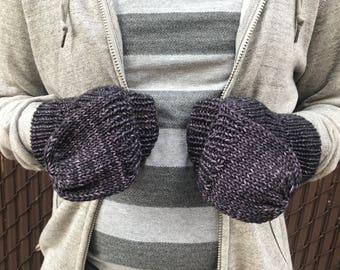 Convertible Mitten, Mens Knit Gloves, Convertible Gloves, Men's Fingerless Gloves, Fingerless Wool Gloves || Friedrich Convertible Gloves