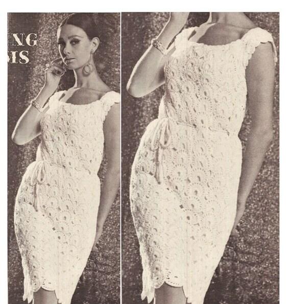 Crochet DRESS Pattern Vintage 70s Crochet Wedding Dress