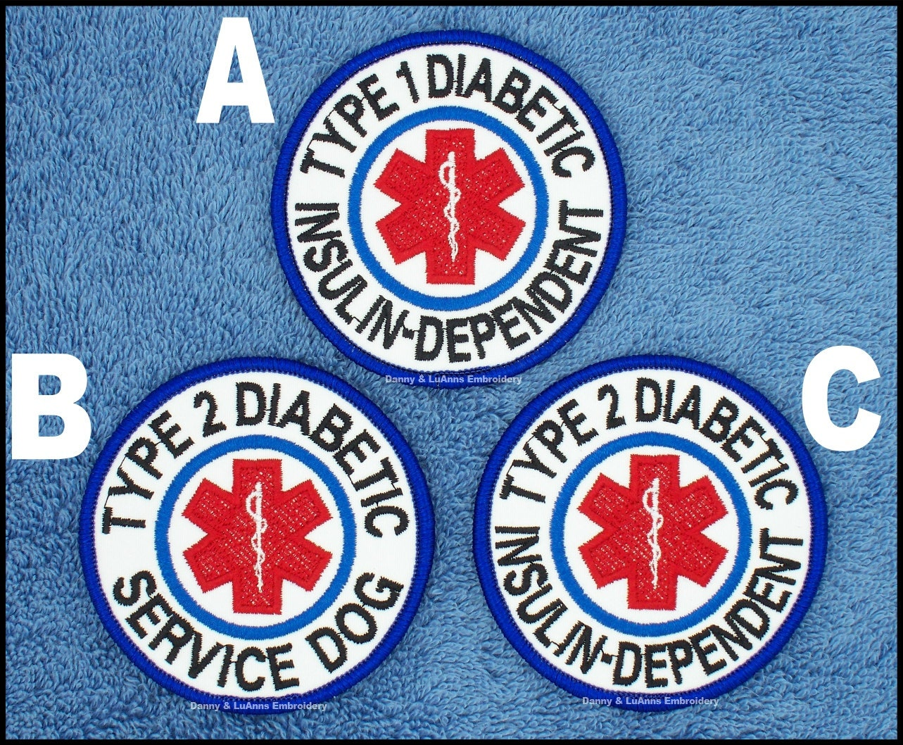 Type 1 type 2 diabetic insulin dependent service dog patch zoom buycottarizona Choice Image