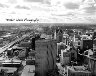 Downtown Milwaukee, a view from above, fine art photography