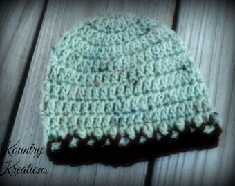 Crochet Baby Boy Hat, Newborn Baby Boy Beanie, Baby Boy Crochet Hat, Infant Baby Boy Hat, Baby Boy Hat, Gift (Ready to Ship)