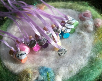 Rainbow Party Favors Dream Theme Sparkle Necklace, 10 Party Favors, Peter Pan Make a Wish Fairy Magic Rainbow Party