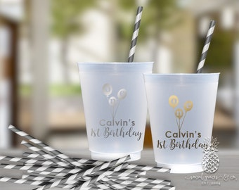 1st Birthday Balloon Party Cups | social graces Co.