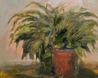 Fern Oil Painting Original Oil Painting