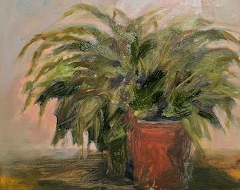 Fern Oil Painting Original Oil Painting