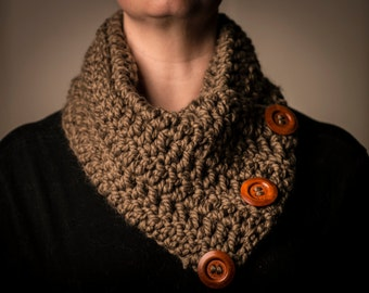 Taupe Crocheted Cowl