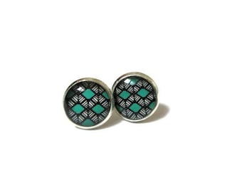 TURQUOISE EARRINGS - Turquoise Gift|For|Teen Girl gifts Turquoise jewelry - Ethnic earrings - Earrings for kids