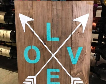 LOVE Pallet Sign - Reclaimed Wood Sign - Love Gifts