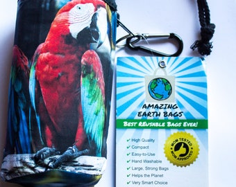 Full set! Amazing Reusable Bags !!!  Parrot