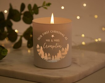 First Married Christmas Christmas Scented Candle