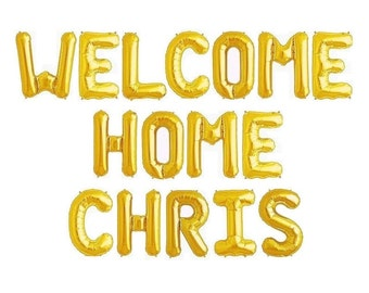 Welcome Home Balloon Banner Welcome Home Banner Military Homecoming Sign Welcome Home Decorations Welcome Home Decor Military Home Coming