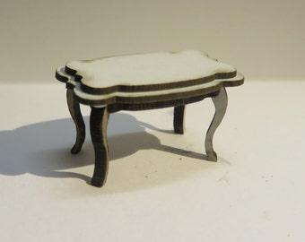Dollshouse miniature rococo coffee table 1/24 scale (half scale)