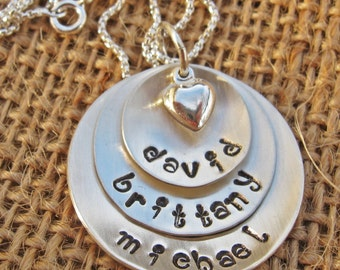 Mother's Necklace, Mommy Jewerly, Personalize Mom Necklace