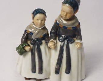 Amager Girls Royal Copenhagen Porcelain Figurine #1316