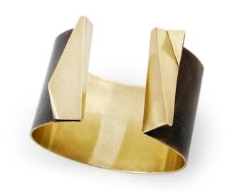 Black Cuff Bracelets For Women Gold Bangle Jewelry For Women Adjustable Bracelet for mom gift for her