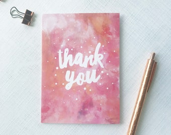 Thank you card - wedding thank you, bridesmaid thank you, thank you notecard, recycled card,  thank you teacher card, thank you gift card
