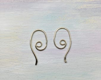 14k Gold Exchangeable Mix and Match Earring Wires Ear Hooks Interchangeable Switch, Swap, Add a Dangle Drop 20 gauge 14k Solid Gold Findings