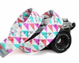 Colorful Camera Strap, Pink Camera Strap, Confetti