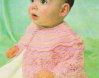 Baby Jacket Daisy Wheel, Crochet Pattern. PDF Instant Download.