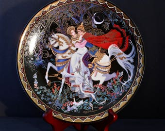 "Bradford Exchange Kingdom Of Thailand Collector Plate ""The Exile"" -Fifth In The Love Story Of Siam Series- Rama And Sita Escape On Horseback"