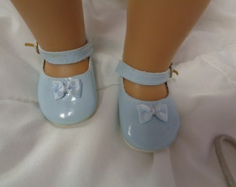 Blue Patent Leather Shoes for 18 Inch Dolls- Fits  American Girl Dolls