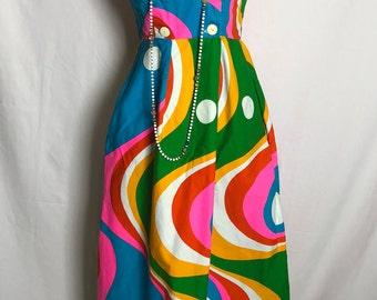 Vintage  Rainbow Boho Dress
