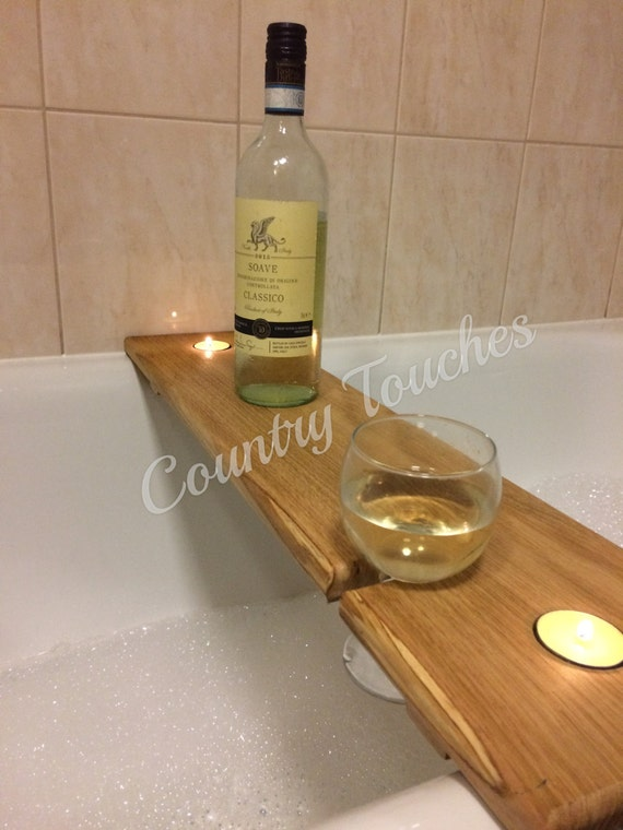 Hardwood wooden bath caddy bath shelf wine caddy glass