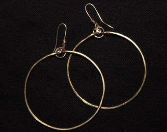 The Dangling Diamond Hoops