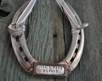 Ring bearer horseshoe western weddings custom ring bearer